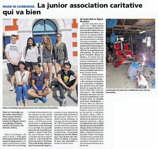 Read more about the article Un nouveau début pour l'association MADE IN CAMBODGE